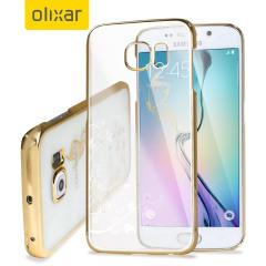 Olixar Dandelion Samsung Galaxy S6 Edge Shell Case - Gold / Clear