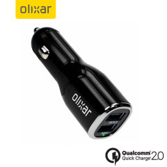 Olixar Dual USB Qualcomm Quick Charge 2.0 Car Charger
