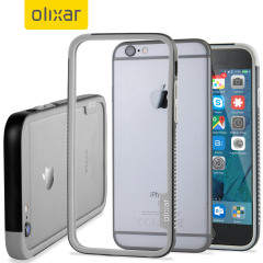 Olixar FlexiFrame iPhone 6S Plus Bumper Case - Black / Grey