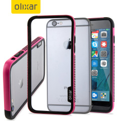 Olixar FlexiFrame iPhone 6S Plus Bumper Case - Hot Pink