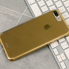 Olixar FlexiShield iPhone 7 Plus Gel Case - Gold