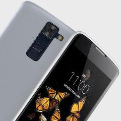 Olixar FlexiShield LG K8 Gel Case - Frost White