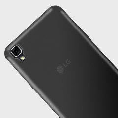 Olixar FlexiShield LG X Power Gel Case - Smoke Black