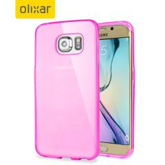 Olixar FlexiShield Samsung Galaxy S6 Edge Gel Case - Light Pink