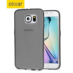 Olixar FlexiShield Samsung Galaxy S6 Gel Case - Smoke Black