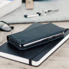 Olixar Genuine Leather Google Pixel Wallet Case - Black