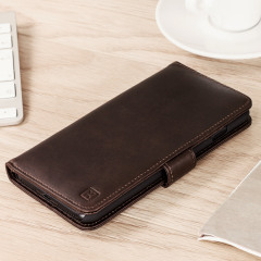 Olixar Genuine Leather iPhone 7 Plus Wallet Case - Brown