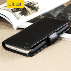 Olixar Genuine Leather LG G5 Wallet Case - Black