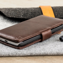 Olixar Genuine Leather LG G5 Wallet Case - Brown