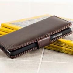 Olixar Genuine Leather Microsoft Lumia 650 Wallet Case - Brown