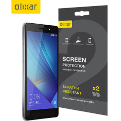 Olixar Huawei Honor 7 Screen Protector 2-in-1 Pack