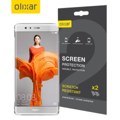 Olixar Huawei P9 Plus Screen Protector 2-in-1 Pack