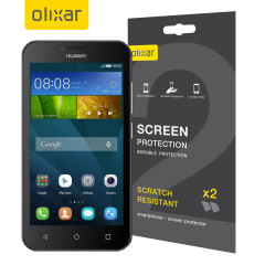 Olixar Huawei Y5 Screen Protector 2-in-1 Pack