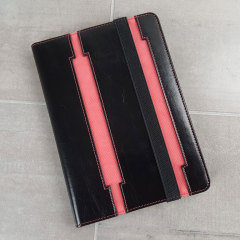 Olixar iPad Mini 3 / 2 / 1 Leather-Style Stand Case - Black / Pink