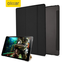 Olixar iPad Pro 12.9 inch Folding Stand Smart Case - Clear / Black