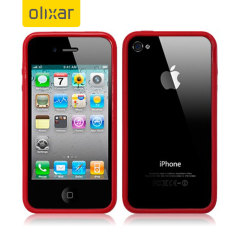 Olixar iPhone 4S / 4 Bumper Case - Red