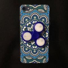 Olixar iPhone 7 Fidget Spinner Pattern Case - Blue / White