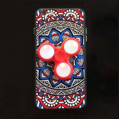 Olixar iPhone 7 Fidget Spinner Pattern Case - Red / Blue