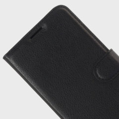 Olixar Leather-Style Archos Diamond 2 Plus Wallet Stand Case - Black