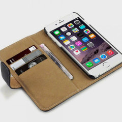 Olixar Leather-Style iPhone 6S / 6 Wallet Case - Black