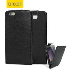 Olixar Leather-Style iPhone 6S / 6 Wallet Flip Case - Black