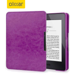Olixar Leather-Style Kindle Paperwhite Case - Purple