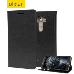 Olixar Leather-Style LG G4 Wallet Stand Case - Black