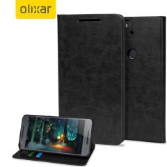Olixar Leather-Style Nexus 6P Wallet Stand Case - Black