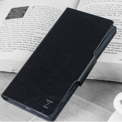 Olixar Leather-Style Samsung Galaxy J3 2017 Wallet Stand Case - Black