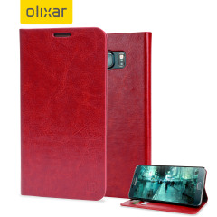 Olixar Leather-Style Samsung Galaxy Note 5 Wallet Case - Red