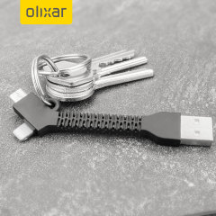 Olixar Lightning and Micro USB Charge and Sync Key Chain - Black