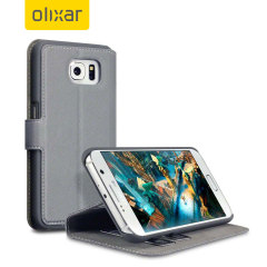 Olixar Low Profile Samsung Galaxy S6 Wallet Case - Grey