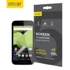 Olixar Moto G 3rd Gen Screen Protector 5-in-1 Pack