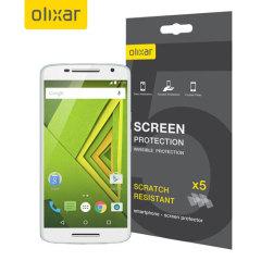 Olixar Motorola Moto X Play Screen Protector 5-in-1 Pack