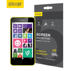 Olixar Nokia Lumia 630 / 635 Screen Protector 5-in-1 Pack