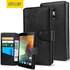 Olixar OnePlus 2 Genuine Leather Wallet Case - Black