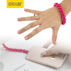 Olixar Power Bracelet Lightning Cable - Hot Pink