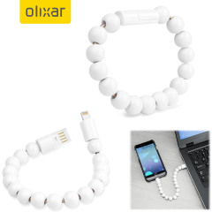 Olixar Power Bracelet Lightning Cable - White
