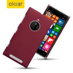 Olixar Rubberised Nokia Lumia 830 Hard Shell Case - Red
