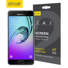 Olixar Samsung Galaxy A3 2016 Screen Protector 2-in-1 Pack