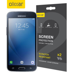 Olixar Samsung Galaxy J2 2016 Screen Protector 2-in-1 Pack