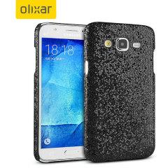 Olixar Samsung Galaxy J5 2015 Glitter Case - Black