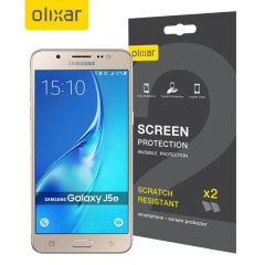 Olixar Samsung Galaxy J5 2016 Screen Protector 2-in-1 Pack