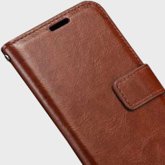 Olixar Samsung Galaxy J7 2016 Wallet Case - Brown