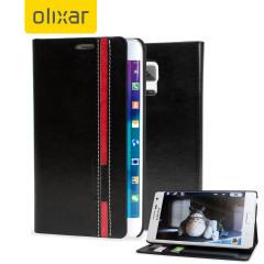 Olixar Samsung Galaxy Note Edge Wallet Case - Black with Red Stripe