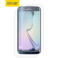 smart phone and olixar samsung galaxy s6 edge tpu screen protector 2 in 1 pack capable