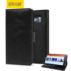 Olixar Samsung Galaxy S6 Edge Plus Genuine Leather Wallet Case - Black