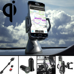 Olixar Samsung Galaxy S6 Edge Qi Wireless Charging Car Holder Pack