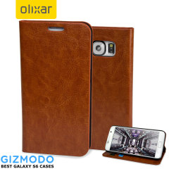Olixar Samsung Galaxy S6 Wallet Case - Brown