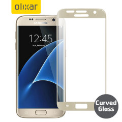 Olixar Samsung Galaxy S7 Curved Glass Screen Protector - Gold